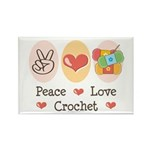 Peace Love Crochet Rectangle Magnet (10 pack)