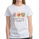 Peace Love Crochet Women's T-Shirt
