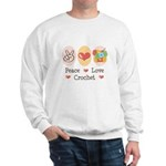 Peace Love Crochet Sweatshirt