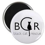 Black Cat Rescue Magnet