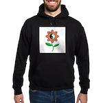 Retro Yin Yang Flower Hoodie (dark)