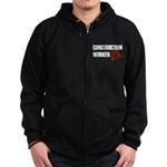 Off Duty Construction Worker Zip Hoodie (dark)