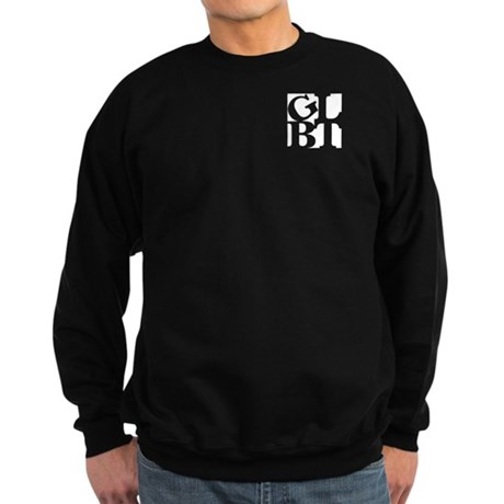 GLBT White Pocket Pop Sweatshirt (dark)
