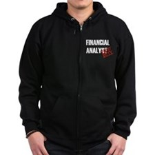 Off Duty Financial Analyst Zip Hoodie