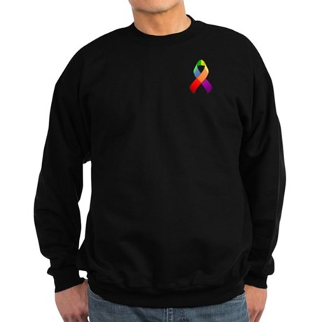 Rainbow Pride II Ribbon Sweatshirt (dark)