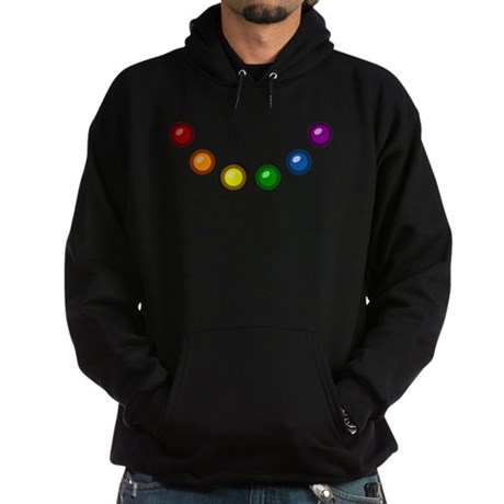 Rainbow Baubles Hoodie (dark)
