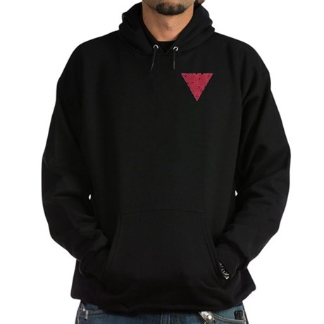 Pink Triangle Pocket Knot Hoodie (dark)