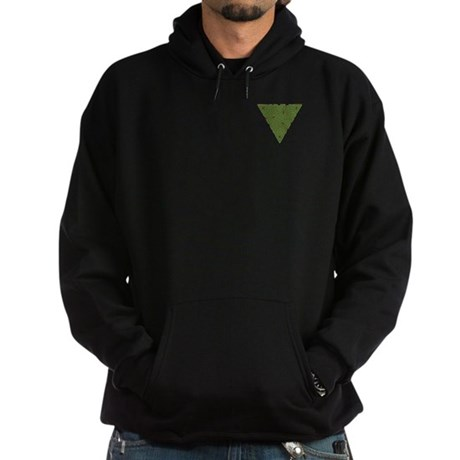 Arboreal Triangle Pocket Knot Hoodie (dark)