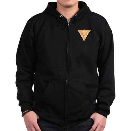 Sunny Triangle Pocket Knot Zip Hoodie (dark)