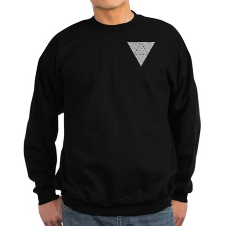 Blackwork Triangle Pocket Knot Sweatshirt (dark)