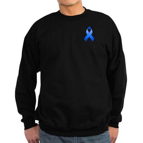 Blue Awareness Ribbon Sweatshirt (dark)