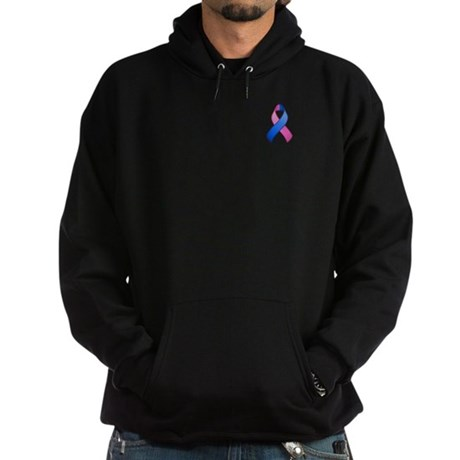 Blue and Pink Awareness Ribbon Hoodie (dark)