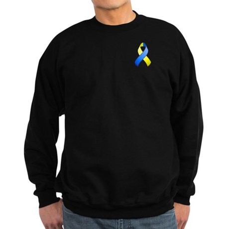 Blue and Yellow Awareness Ribbon Sweatshirt (dark)