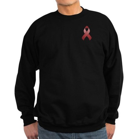 Burgundy Awareness Ribbon Sweatshirt (dark)