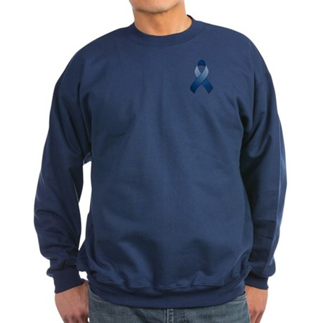 Dark Blue Awareness Ribbon Sweatshirt (dark)