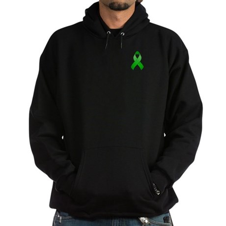 Green Awareness Ribbon Hoodie (dark)