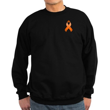 Orange Awareness Ribbon Sweatshirt (dark)