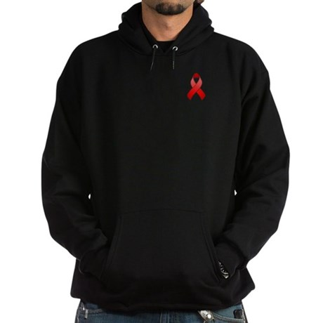 Red Awareness Ribbon Hoodie (dark)