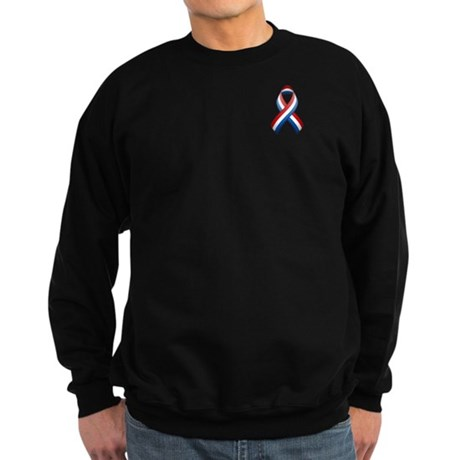 Red White & Blue Ribbon Sweatshirt (dark)