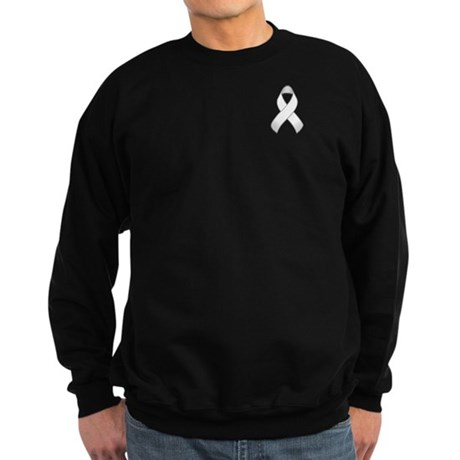 White Awareness Ribbon Sweatshirt (dark)
