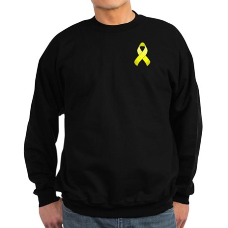 Yellow Awareness Ribbon Sweatshirt (dark)