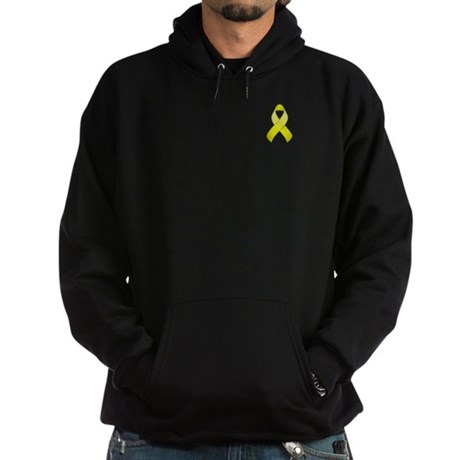 Yellow Awareness Ribbon Hoodie (dark)