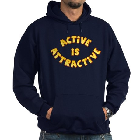 Active Is Attractive Hoodie (dark)