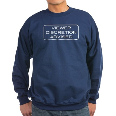 Viewer Discretion Advised Sweatshirt (dark)