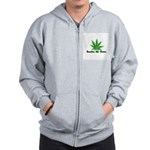 Smokin the Green (pot) Zip Hoodie