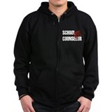 Off Duty School Counselor Zip Hoody