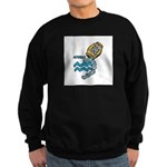 Aquarius Cool Water Design Sweatshirt (dark)