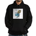 Aquarius Cool Water Design Hoodie (dark)