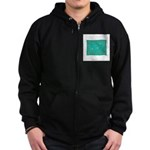 Capricorn Constellation Tapes Zip Hoodie (dark)