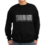 Data Entry Clerk Barcode Sweatshirt (dark)