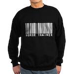 Horse Trainer Barcode Sweatshirt (dark)