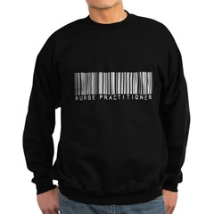 Nurse Practitioner Barcode Sweatshirt (dark)