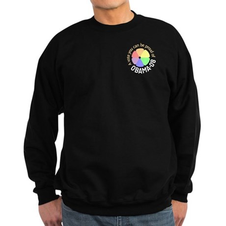 Pocket Proud of Obama Vote Sweatshirt (dark)