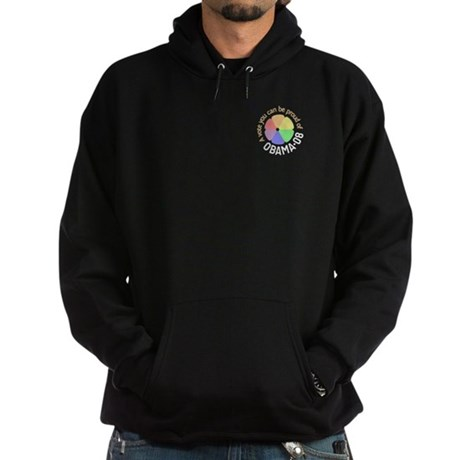Pocket Proud of Obama Vote Hoodie (dark)