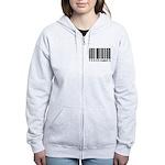 Programmer Barcode Women's Zip Hoodie