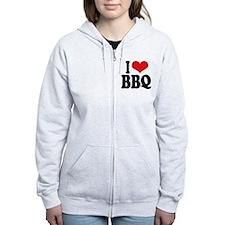 I Love BBQ Zip Hoody