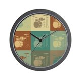 Drums Pop Art Wall Clock