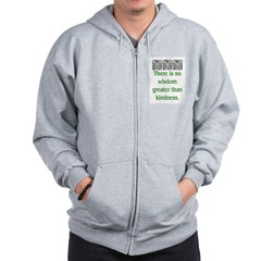 THERE IS NO KINDNESS... (GREEN) Zip Hoodie