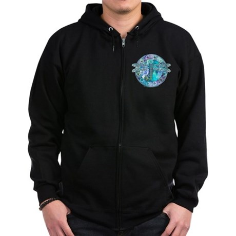 Cool Celtic Dragonfly Zip Hoodie (dark)