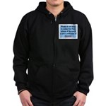 EMERSON - CHARACTOR QUOTE Zip Hoodie (dark)