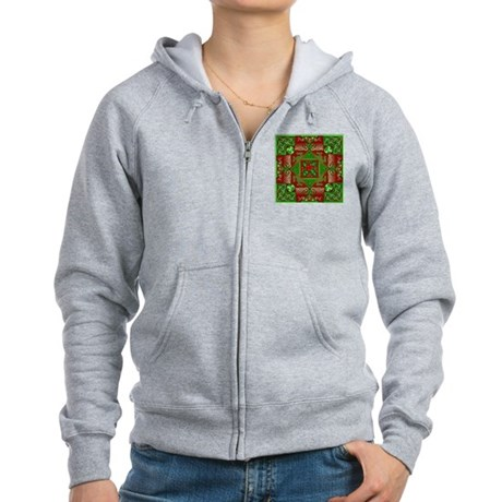 Celtic Labyrinth Holly Women's Zip Hoodie