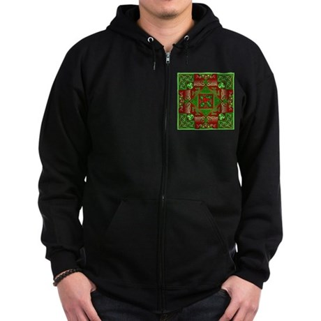 Celtic Labyrinth Holly Zip Hoodie (dark)