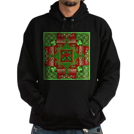 Celtic Labyrinth Holly Hoodie (dark)