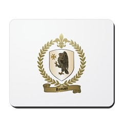 ROMAIN Family Crest Mousepad