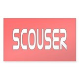 Red Scouser Rectangle Decal