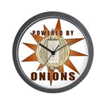 Powered by Onions Wall Clock